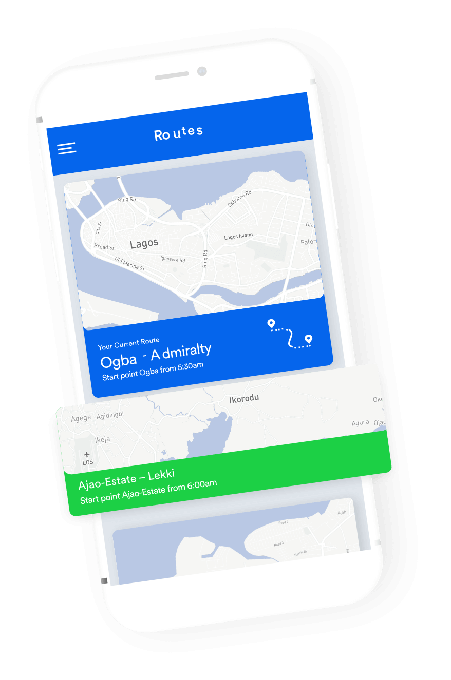 Route on a Phone